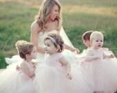 Light Blush Flower Girl Dresses Gorgeous Tutu Frocks pastel rustic weddings pink dress custom gowns tulle dress stylemepretty