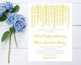 Yellow Wedding Invitation - Fast, Unique Wedding Invitation