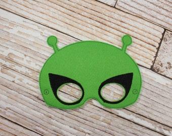 Alien Mask - felt Alien mask for Parties, Halloween, Dress-up Play, Alien Halloween Mask, Alien Halloween Costume