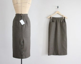 wool pencil skirt | high waist wool skirt | tailored wool skirt