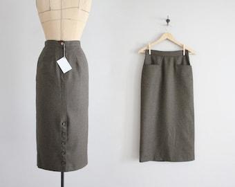 wool pencil skirt | high waist wool skirt | tailored wool skirt