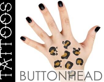 Leopard Costume Accessories - Cat Costume Accessories - Leopard Spots Halloween Temporary Tattoos