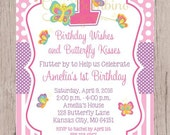 PRINTABLE Butterfly Birthday Party Invitation / Print Your Own Personalized Butterfly Invitation / Any Age / Pink & Purple / You Print