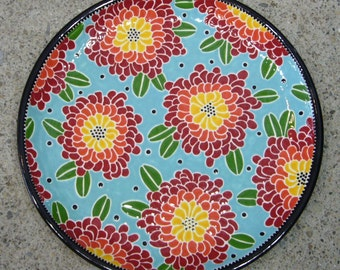 16'' Floral Coupe Platter