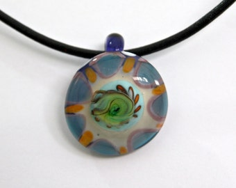 Handmade Artisan Lampwork Focal Glass Bead Off Mandrel Pendant