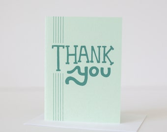thank you card mint green