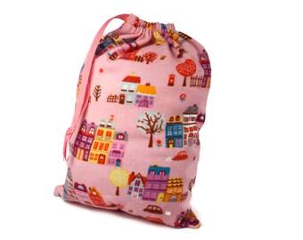 Knitting Project Bag, Drawstring Knitting Bag