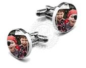 Custom Cufflinks, Personalized Picture Cufflinks, Photo Cufflinks, Handmade, Gifts for Him, Children, Christmas Gift, Keepsake, Anniversary