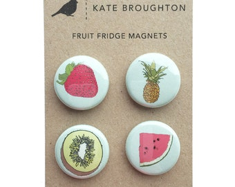 Fruit fridge magnets (set of four)