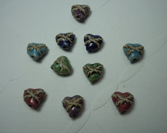 New! Small Bound Heart in five colors (2)
