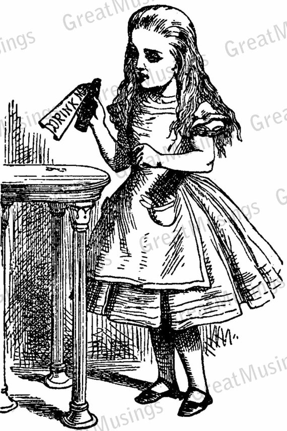 vintage clip art alice in wonderland - photo #2