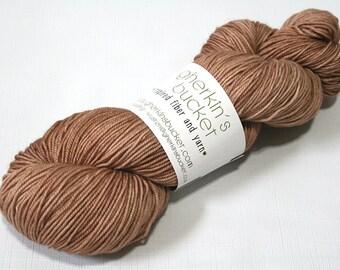 Hand Dyed Artisan Yarn, Tonal Kettle Dyed Sock Yarn, Semisolid SW Merino Wool Yarn, Simple SW Sport - Banter colorway (dyelot 61316)