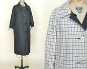 Vintage Raincoat --- 1960s Black Trenchcoat