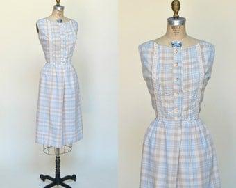 1960s Day Dress --- Vintage Large Spring Dress