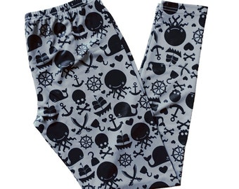 Pirate Themed Leggings - Size S-3X