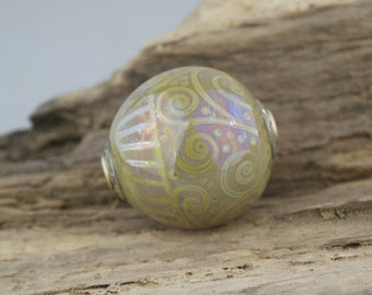 Alive Glass - Round Capped Focal - Opal