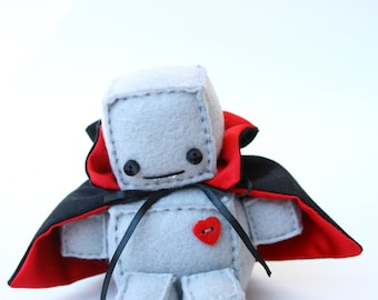 Itty Bitty Holloween Dracula Robot Plush