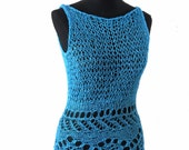 SUBLIME- hand knitting - Vest tank sweater - in purple