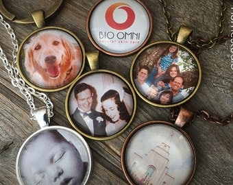 CUSTOM PHOTOS : Personalized jewelry. black white. color photographs, family, pets, kids, wedding, dog, cat. , lds temple, missed loss death