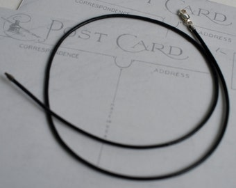 black leather cord pendant necklace for suegray jewelry