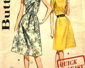 Quick 'N Easy Basic Dress with Fitted Bodice Bust 36 Butterick 2625