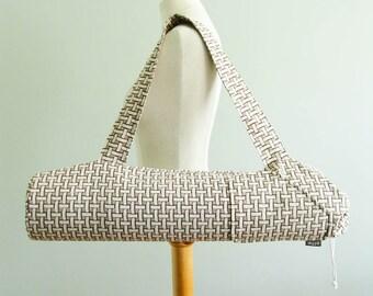 Yoga Gift for Mom. Yoga Mat Bag - Taupe Basketweave. Yoga Mat Carrier. Neutral Yoga Bag. Yoga Gear. Yoga Mat Holder. Yoga Gift for Friend