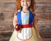 Snow White apron, Snow White costume apron, Snow White tutu apron, princess dress up, girls tutu apron, Princess tutu apron
