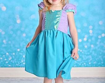 Mermaid dress  princess  dress for birthday party dress  or portrait