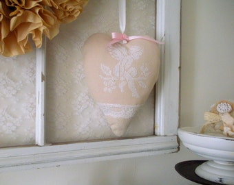 Cupid Cross Stitch Heart Hanger,Valentine Door Hanger