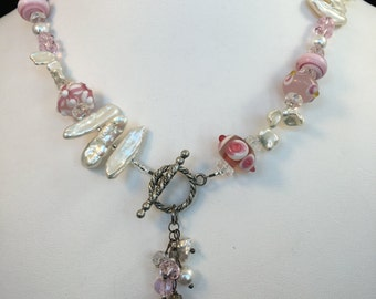 The Debra 1 - Breast Cancer Awareness Necklace - 50% goes to Susan G Komen foundation