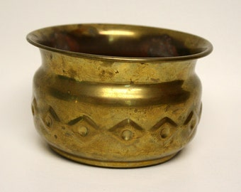 Vintage Decorative Brass Cachepot