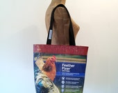 Tote Bag, Upcycled Chicken Feed Bag, made in Maine, eco-friendly gift