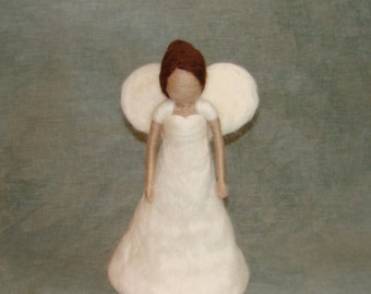 Needle Felted Angel Tree Topper - Wool Waldorf Inspired