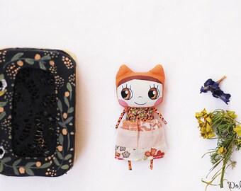 Toy for blythe, Anthropomorphic doll, Dollhouse doll,  Modern doll, Pocket doll, Dollhouse decor, Toy for dolls, Fairy doll, Orange doll