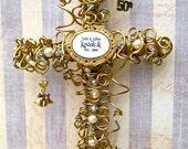 50th Anniversary - 50th Wedding Anniversary Gift Cross - Golden Anniversary Gift Cross - 50th Anniversary Gift - Gold Anniversary