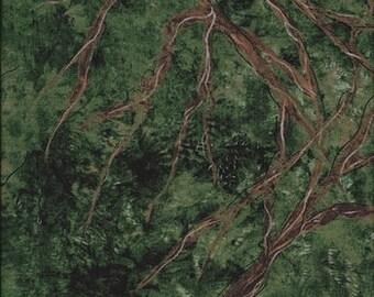 Treetops Green Reflect Nature Study Frond Designs 1 yard