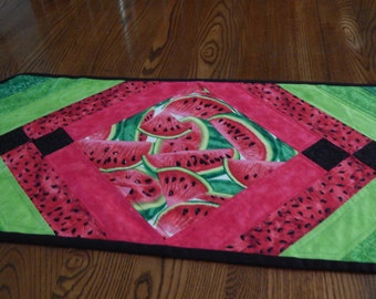 Cool Watermelon Time Table Runner