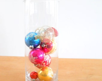 Vintage Christmas Bulbs Mixed Lot of 9  • Mid Century Christmas Ornaments • Made in the USA Shiny Brite