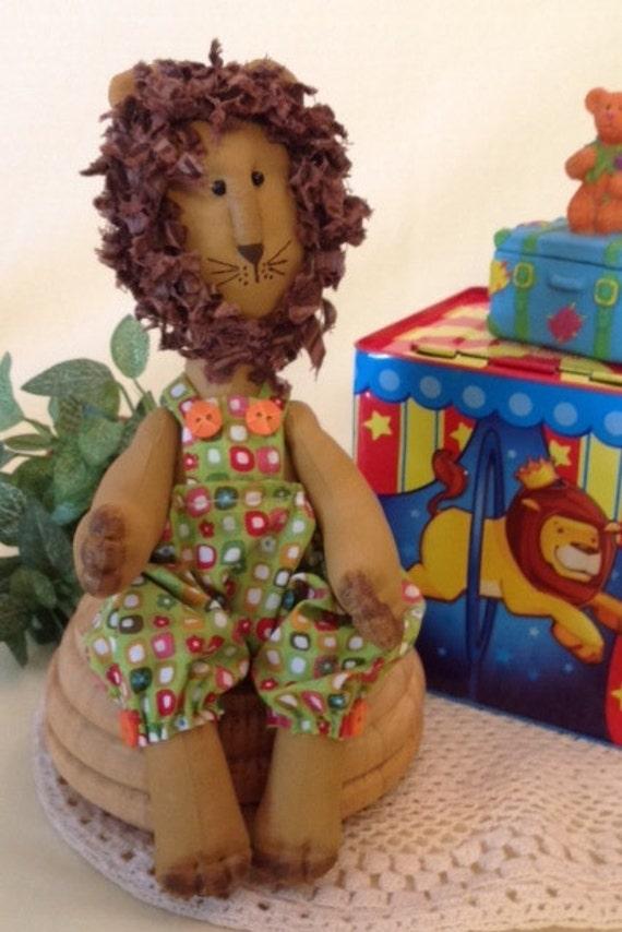Cloth Doll E-Pattern Baby Boy Lion Sewing Pattern