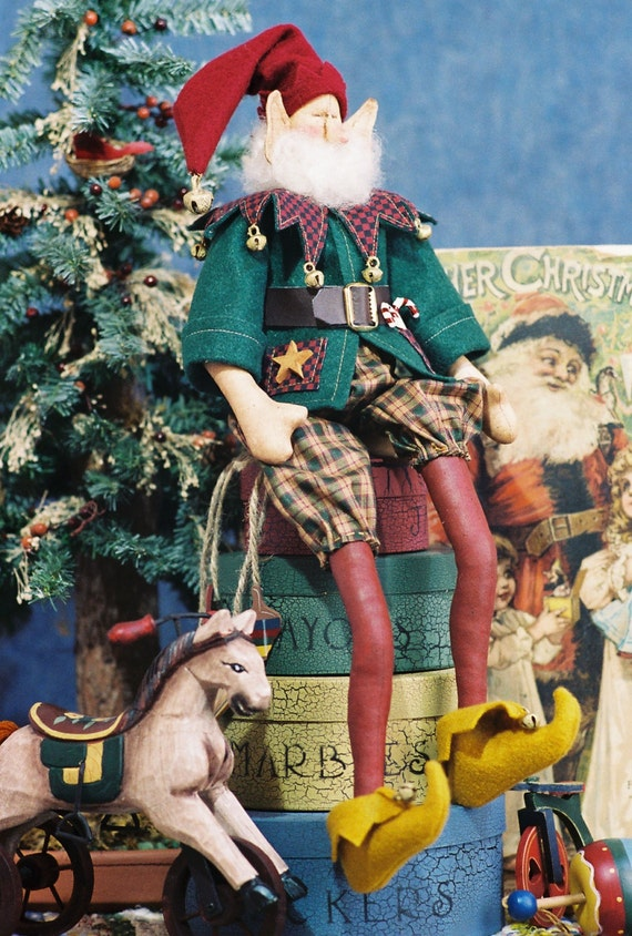 Mailed Cloth Doll Pattern- 18in Cute Christmas Elf