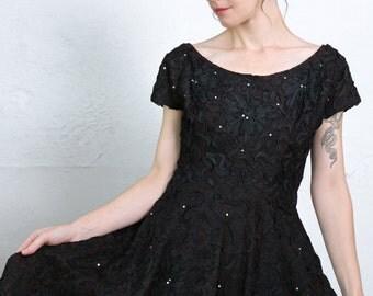 SALE- Black Ribbon Dress