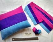 Bisexual/Biromantic Pride Scarves, Pillows, and Mini Hearts