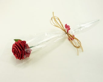 Gift Wrapped Single Stem Rose (Choose your own color)