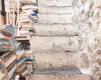 "SALE! Paris Photography, ""Abbey Bookshop"" Paris Print, Large Art Print, Literary Gift, Old Books Photo, College Student Gift, Dorm Decor"