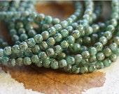BEACHY BITS .. 50 Picasso Czech Druk Glass Beads 3mm (4620-st)