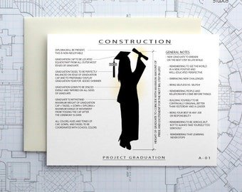 Project Graduate - Girl / Female - Blank Architecture Construction Card