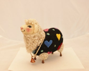 Sheep, Lambies  in Jammies, I Love Ewe  Needle Felted Sheep #1825