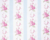 Sale - 2 yards - Slipper Roses by Tanya Whelan - Country Ticking TW085 Blue