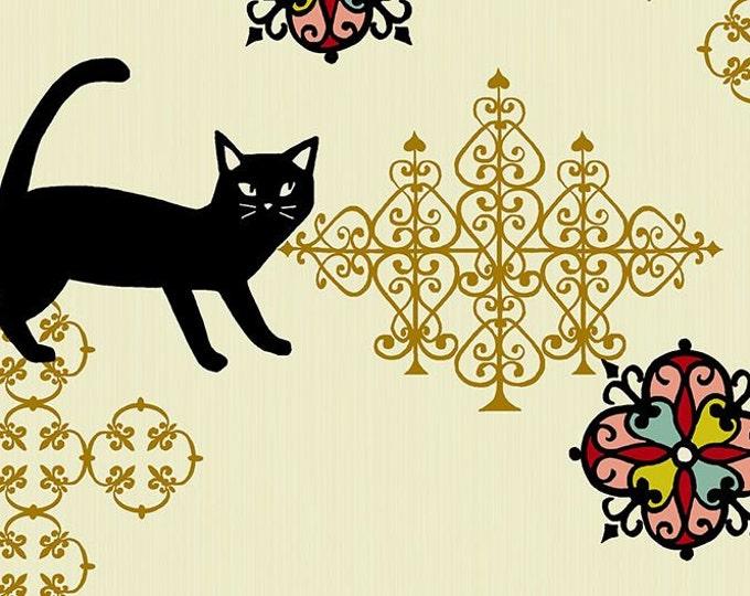 Quilt Gate Japan Hyakka Ryoran ~ Neko II Calico Cat ~ QG3170-12A select length