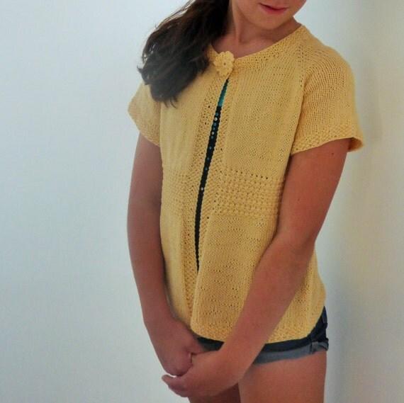 Knit Cardigan Pattern Top Down : Top Down Knitting Pattern Cardigan Sweater Grande Emma a